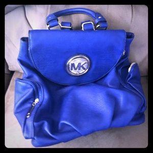 Royal Blue MK backpack